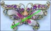 Brooch Metal Alloy Painted