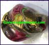 Smooth Irregular Lampwork Glass Bead