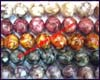 Smooth Round Lampwork Glass Bead