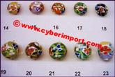 Bead Glass Lampwork Flower Roun