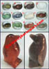 Carved Gemstone Penguins