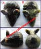 stone rat mouse figurines