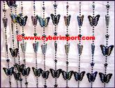Decoration Curtain Beaded Plastic Butterfly