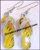 Earring Alloy Rhinestone Yellow Flip-flops