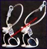 Earring Alloy Rhinestone Dog