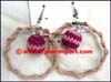 Earring Hoop Bead Crochet Ball