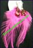 Earring Feather Pink