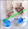 Lampwork Bead Glass Earrings