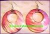Earring Mother Pearl Shell Pink Hoop
