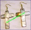 Earring Mother Pearl Shell Cross