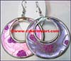 Textile Covered Earrings