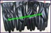Gloves Leather Black Elastic