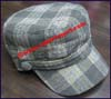Men's Plaid Military Caps
