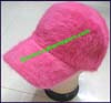 Ladies Fur Baseball Cap
