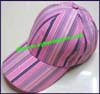 Ladies Stripe Baseball Cap