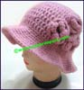 Ladies Crocheted Bucket Hat