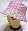 Ladies Striped Bucket Hat