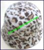 Ladies Animal Print Cloche Hat