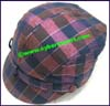 Ladies Plaid Cloche Hat