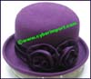 Ladies Wool Felt Bowler Hat