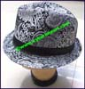 Ladies Paisley Fedora Hat