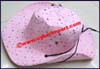 Ladies Polka Dot Fedora Hat