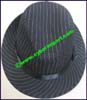 Ladies Striped Fedora Hat