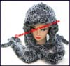 Ladies Natural Rabbit Fur Hat