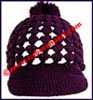 Ladies Crocheted Jockey Riding Cap
