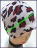 Ladies Animal Print Knit Stocking Cap