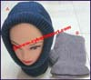 Ladies Balaclava Bulky Knit Stocking Cap