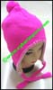 Ladies Earflap Bulky Knit Stocking Cap