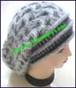 Ladies Rabbit Fur Blend Stocking Cap