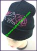 Ladies Rhinestud Knit Stocking Cap
