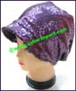 Ladies Sequins Knit Stocking Cap