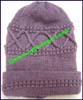 Ladies Solid Bulky Knit Stocking Cap