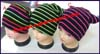 Ladies Stripes Bulky Knit Stocking Cap