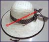 Ladies Women's Straw Medium Brim Hat