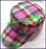 Ladies Plaid Military Caps