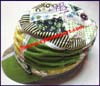 Ladies Patchwork Mod Caps