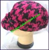 Ladies Houndstooth Newsboy Cap