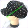 Ladies Windowpane Newsboy Cap
