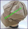 Ladies Solid Newsboy Cap