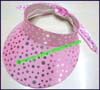 Ladies Polka Dot Sun Visor