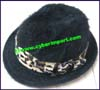 Ladies Rabbit Fur Trilby Hat