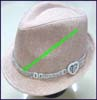 Ladies Linen Trilby Hat
