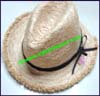 Ladies Raw Edge Trilby Hat