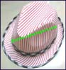 Ladies Striped Trilby Hat
