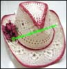 Ladies Crocheted Western Cowboy Hat