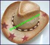 Ladies Grass Western Cowboy Hat